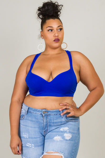 Plus Size Stretchy Active Sports Bra
