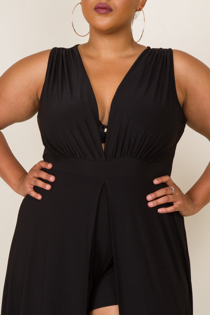 Plus Size Romper Maxi Romper Dress