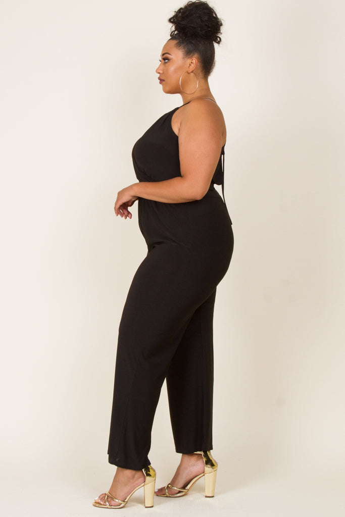 **FINAL SALE** Plus Size Halter Neck Jumpsuit
