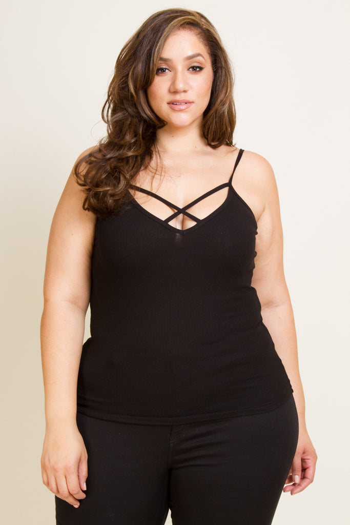 Plus Size Criss Cross Cami