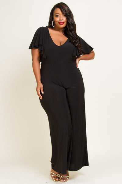 Plus Size Flair Bottom Jumpsuit