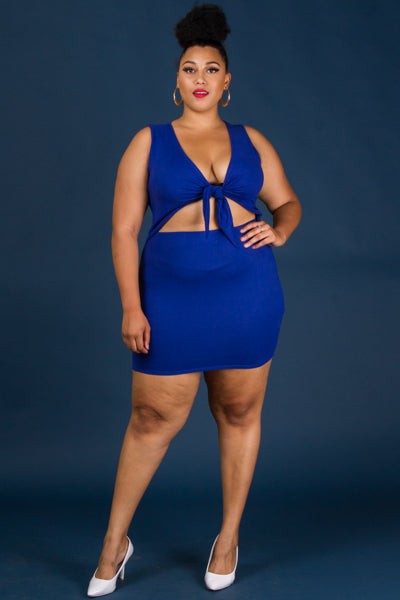 Plus Size Sleeveless Off The Shoulder Front Keyhole Dress