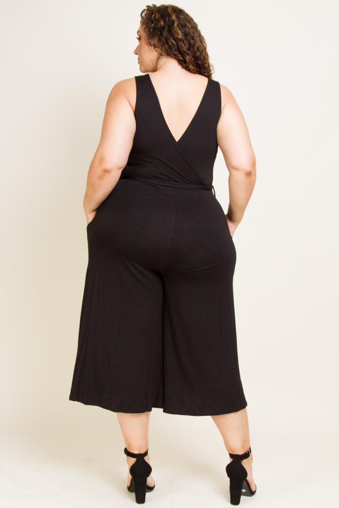 **FINAL SALE** Plus Size Sexy Bottom Flair Jumpsuit
