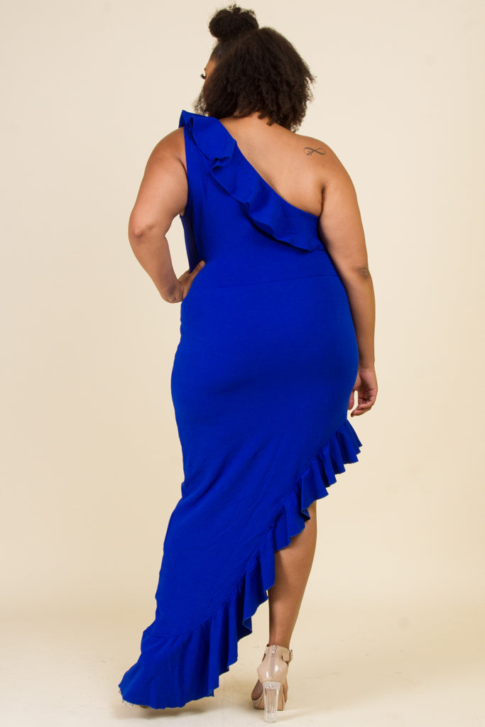 Plus Size Side Side Tail Mini Dress