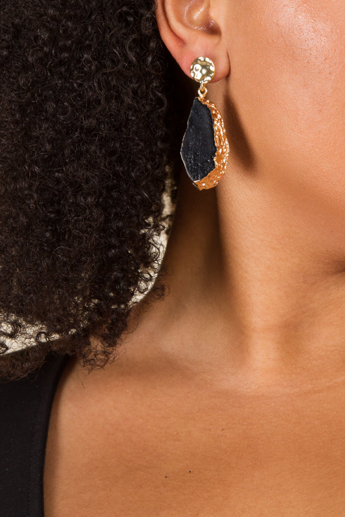 **FINAL SALE** Golden Stone Earrings