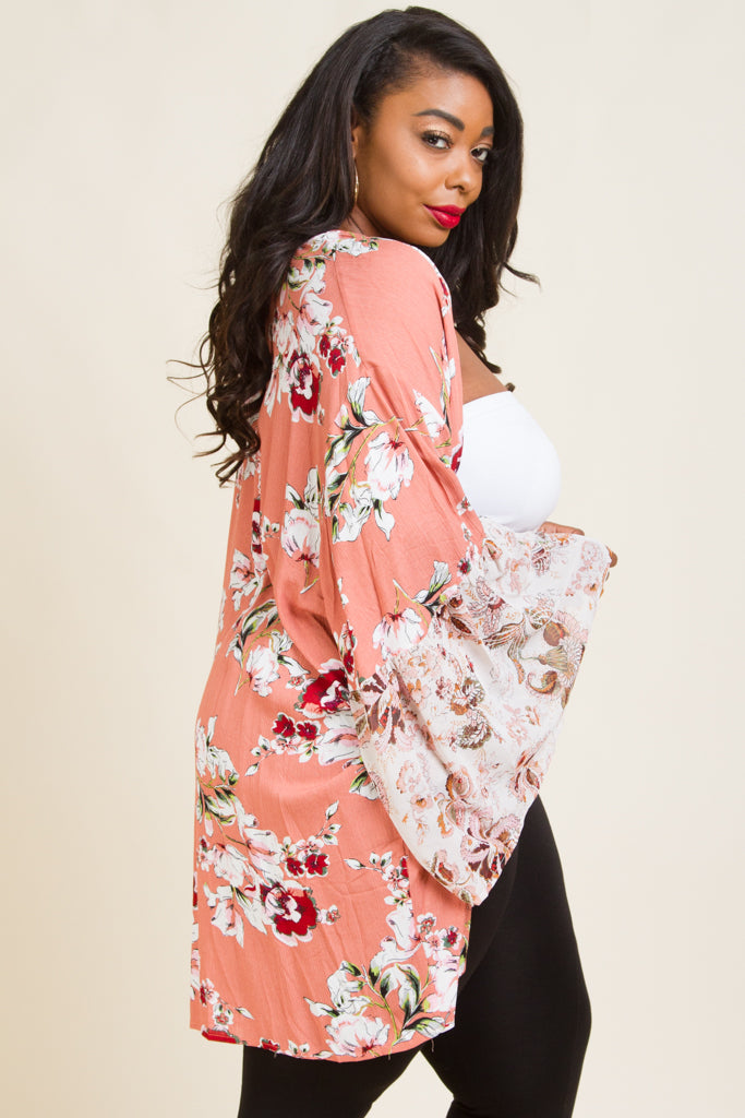 Plus Size Pattern long Sleeve Cardigans