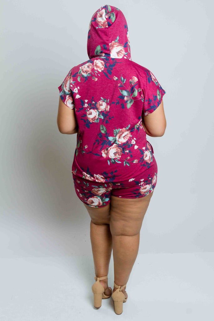 Plus Size Floral Training Matching Set