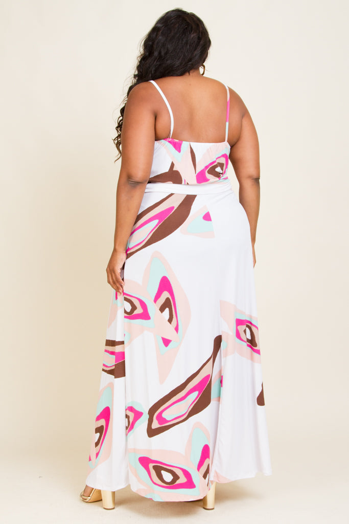 Plus Size Spaghetti Strap Long Dress