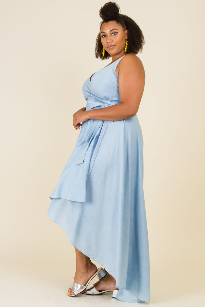 Plus Size Sleeveless A-Line Maxi Dress