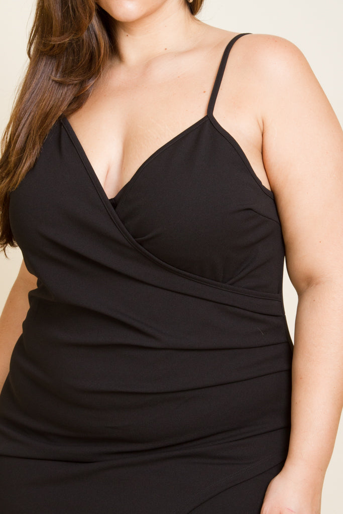 Plus Size Surplice Sweet Sexy Dress