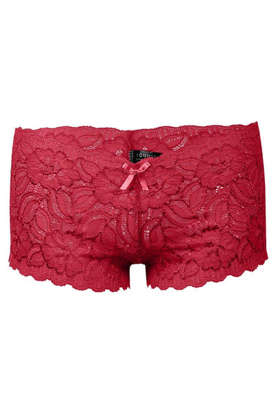 **FINAL SALE** Plus Size Floral Lace Boyshort