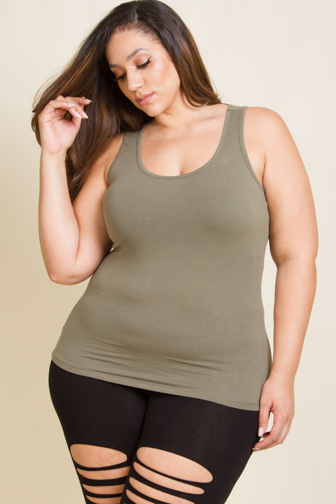 Plus Size Racer Back Sleeveless Top