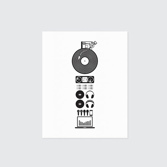 Parts Print - DJ. Limited Edition.