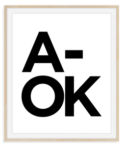 HL Print014 A-OK (Black on White)