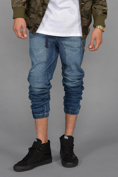 Zeel Denim Joggers (Dark Indigo)