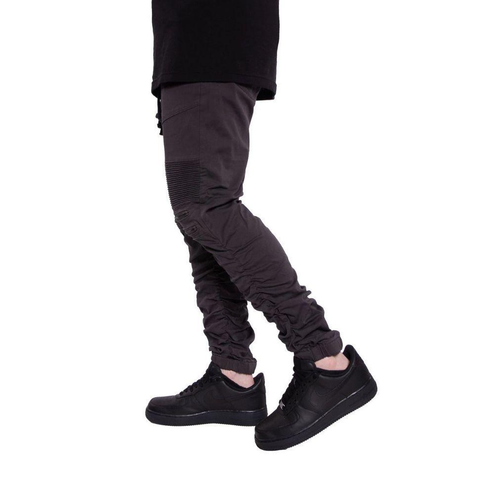 Mulisha Stacked Leg Joggers (Charcoal) Mens Joggers Seize&Desist Los Angeles