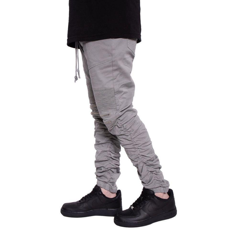 Mulisha Stacked Leg Joggers (Grey) Mens Joggers Seize&Desist Los Angeles