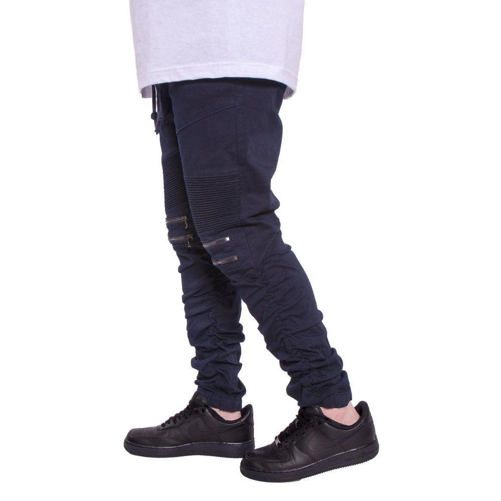 Mulisha Stacked Leg Joggers (Navy) Mens Joggers Seize&Desist Los Angeles