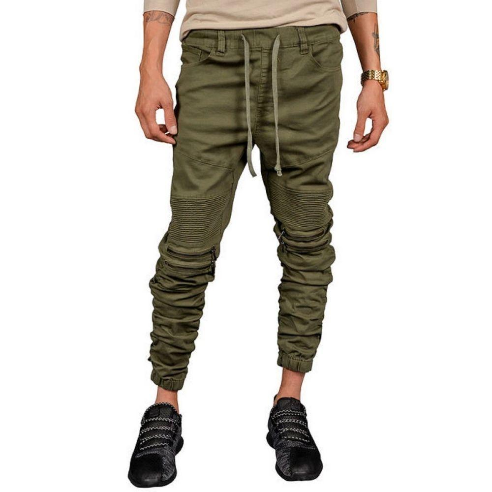 Mulisha Stacked Leg Joggers (Olive) Mens Joggers Seize&Desist Los Angeles