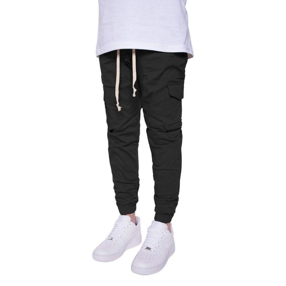 Cargo Twill Joggers in Black Mens Joggers Seize&Desist Los Angeles