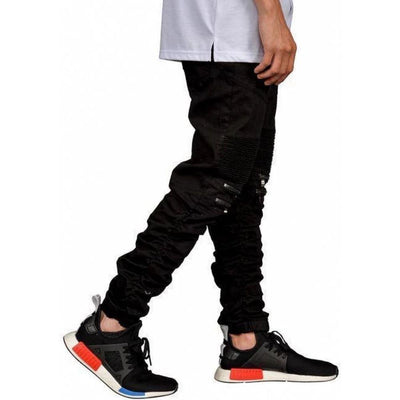 Mulisha Stacked Leg Joggers (Black) Mens Joggers Seize&Desist Los Angeles