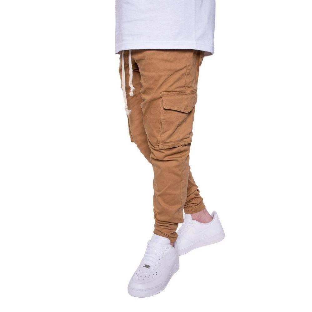 Cargo Twill Joggers in Wheat Mens Joggers Seize&Desist Los Angeles