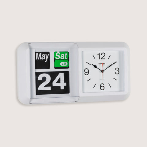 Large FARTECH Auto Calendar Wall Desk Flip Clocks