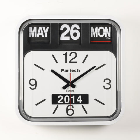 Giant FARTECH Auto Calendar Wall Desk Flip Clocks