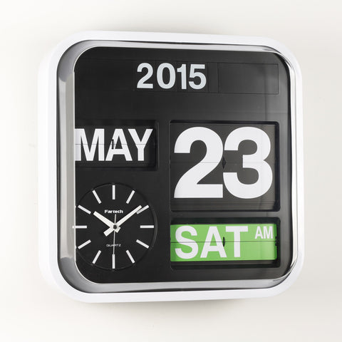 FARTECH Auto Calendar Flip Clocks - Most Popular