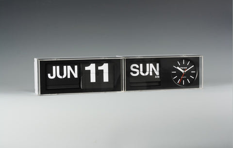 FARTECH Auto Calendar Wall Desk Flip Clocks with Unique Design