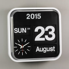 Karlsson Big Flip Calendar Clock