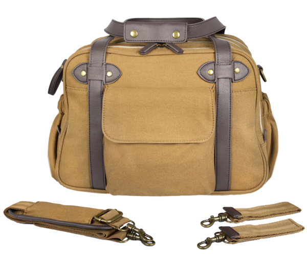 c7bd5156e6ed Tan Charlie Diaper Bags w  Brown Handles - SoYoung Malaysia