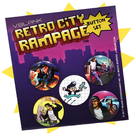 Retro City Rampage™ • Button Pack #1