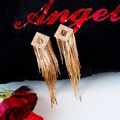 Victoria Golden Tassel Earrings