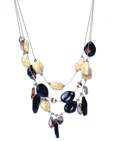 Cabochon Layered Necklace - Chooseberry
