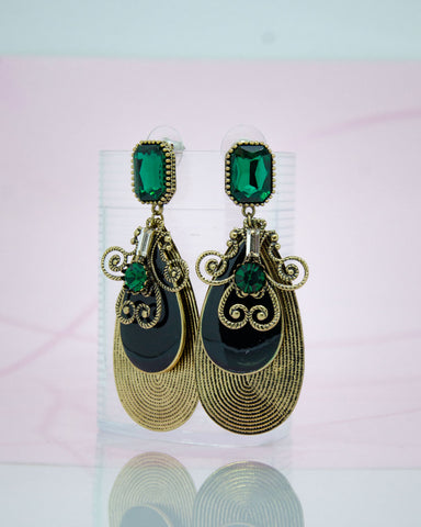 Antique Multilayered Drop Earrings