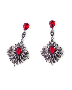 Orchid Crystal Earrings - Chooseberry