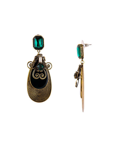Antique Multilayered Drop Earrings - Chooseberry