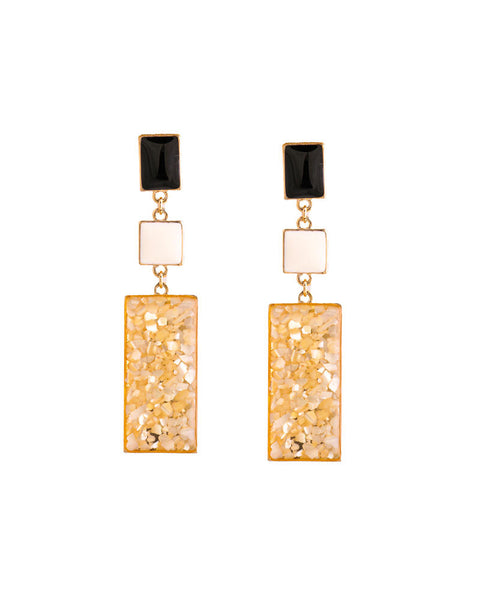 Triclour Mosaic Drop Earrings - Chooseberry