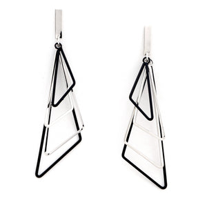Triangle Bunch Drop Earrings - Chooseberry