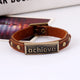 Inspirational Achieve Words Metal Bracelet