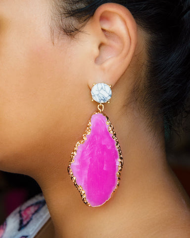 Arousy Pink Earrings