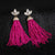 Doozie Fringe Pink Tassel Earrings