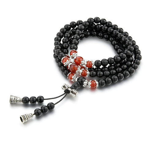 Black Lava Bead Layer Bracelet