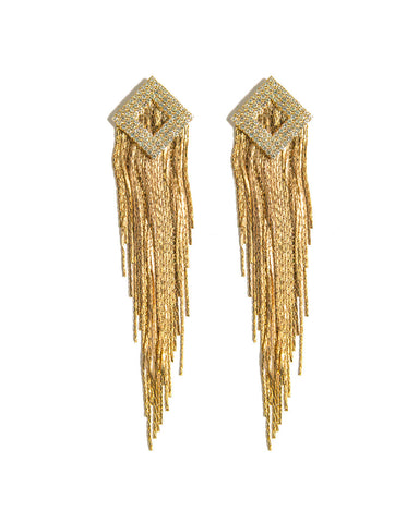 Golden Tassel Earrings from Chooseberry Fashion Jewelry Online