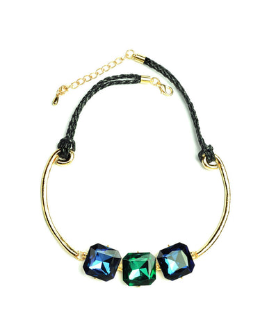 B'Dazzled Blue Choker Necklace - Chooseberry