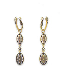 Vintage Oval Drop Earrings - Chooseberry