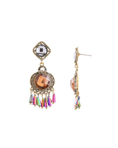 Dusky Fringe Drop Earrings