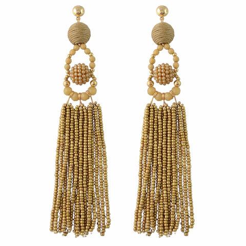 Madeleine Gold Tassel Earrings