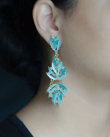 Aqua Dangler Earrings